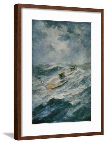 "The ""Monitor"" in a Storm-Robert Hopkin-Framed Art Print"