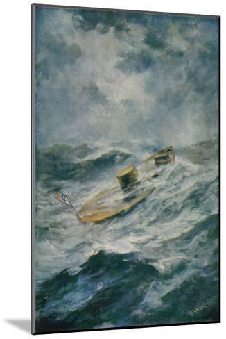 """The """"Monitor"""" in a Storm-Robert Hopkin-Mounted Giclee Print"""