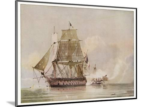 Naval Action off Candia Engagement Between the British Warship Leander and the French Le Genereux-C.h. Seaforth-Mounted Giclee Print