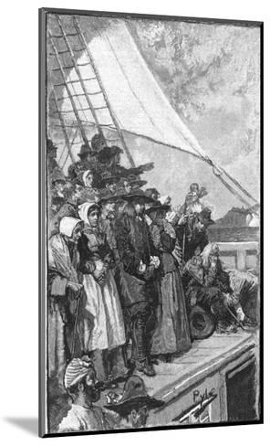 William Penn and Other Quakers Sail to the New World in the Welcome-Howard Pyle-Mounted Giclee Print