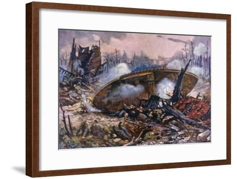 Captain Inglis's Tank-Alfred Pearse-Framed Art Print