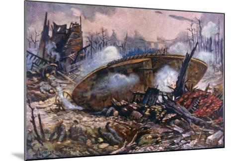Captain Inglis's Tank-Alfred Pearse-Mounted Giclee Print