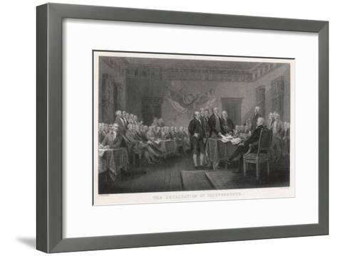 The Signing of the Declaration of Independence in Philadelphia-W. Greatbach-Framed Art Print