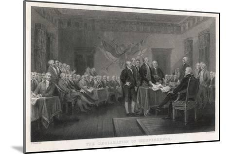 The Signing of the Declaration of Independence in Philadelphia-W. Greatbach-Mounted Giclee Print