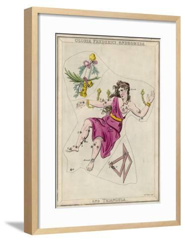 Andromeda (Gloria Federici) in Chains Plus Triangles Constellation-Sidney Hall-Framed Art Print
