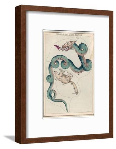 Draco and Ursa Minor Constellation-Sidney Hall-Framed Art Print