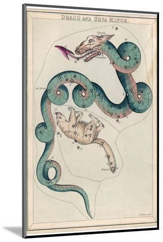 Draco and Ursa Minor Constellation-Sidney Hall-Mounted Giclee Print