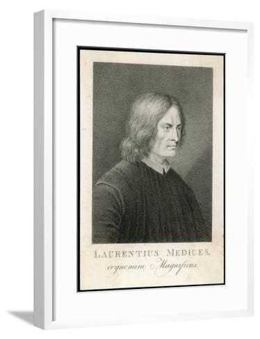 Lorenzo de Medici Italian Statesman Known as the Magnificent-M. Haughton-Framed Art Print