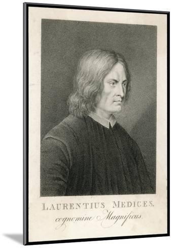 Lorenzo de Medici Italian Statesman Known as the Magnificent-M. Haughton-Mounted Giclee Print