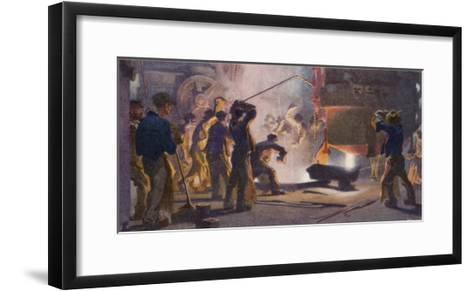 An Interior View of Krupps' Steelworks Ruhr-Heinrich Kley-Framed Art Print
