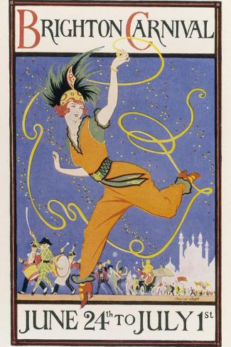 Poster for the Brighton Carnival 24 June to 1 July-Conrad Leigh-Stretched Canvas Print