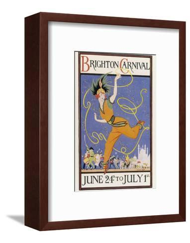 Poster for the Brighton Carnival 24 June to 1 July-Conrad Leigh-Framed Art Print