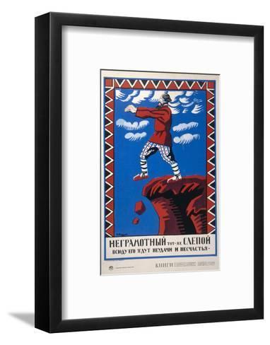 He Who Cannot Read is Like a Blind Man-Alexei Radakov-Framed Art Print