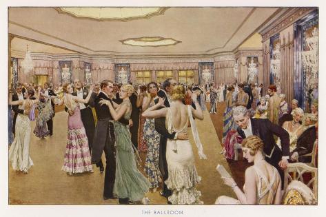 The Dorchester the Ballroom-Fortunio Matania-Stretched Canvas Print