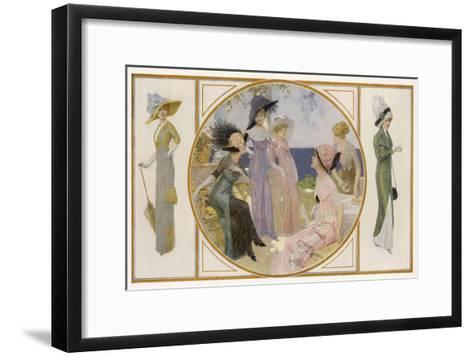 Garden Party Frocks 1911-Rene Lelong-Framed Art Print