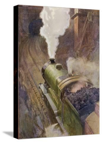 Great Central Express-H.r. Millar-Stretched Canvas Print