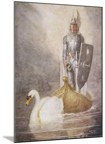 Lohengrin Arrives in a Boat Drawn by Elsa's Brother Godfrey-Norman Price-Mounted Giclee Print