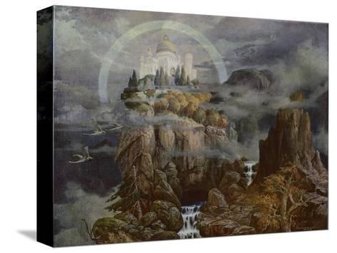 Die Gralsburg, The Castle of the Grail-Hans Rudolf-Stretched Canvas Print