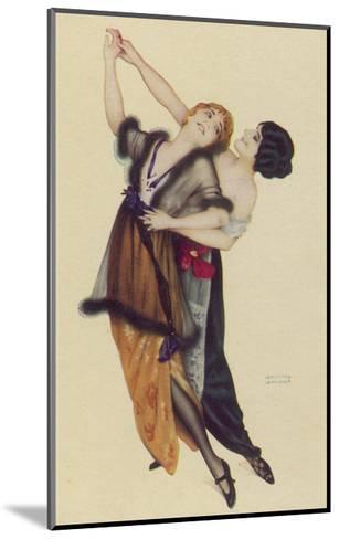 Two Stylishly Dressed Ladies Dance the Tango Stylishly Together-Ernst Ludwig Kirchner-Mounted Giclee Print