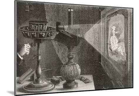 Reynaud's Praxinoscope Adapted for Projection onto a Screen- Poyet-Mounted Giclee Print