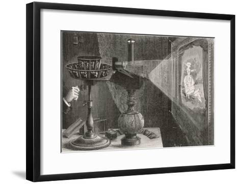 Reynaud's Praxinoscope Adapted for Projection onto a Screen- Poyet-Framed Art Print
