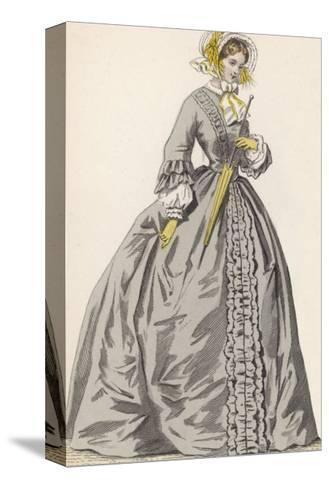 1882 Depiction of 1840s Fashions-F. Lix-Stretched Canvas Print
