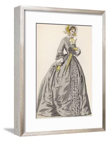 1882 Depiction of 1840s Fashions-F. Lix-Framed Art Print