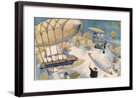 When Air Travel Becomes Popular the Sky Routes Will Become as Crowded as Those on the Surface-Albert Guillaume-Framed Art Print