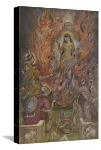 The Triumph of Sita Beloved Wife of Rama after a Succession of Adventures-Evelyn Paul-Stretched Canvas Print