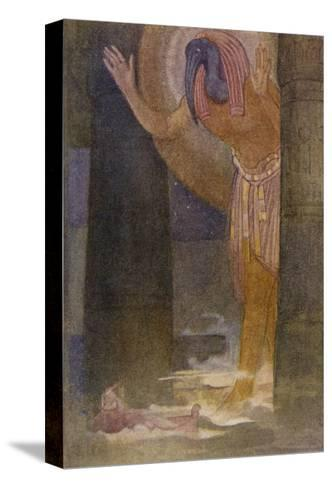 In the Temple the Chief Magician is Visited by the God Thoth in a Dream-Evelyn Paul-Stretched Canvas Print