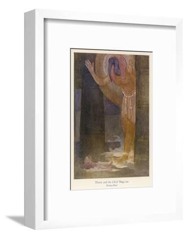 In the Temple the Chief Magician is Visited by the God Thoth in a Dream-Evelyn Paul-Framed Art Print
