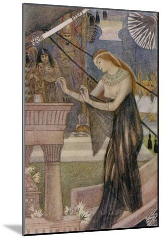 Isis Departs from Byblos-Evelyn Paul-Mounted Giclee Print