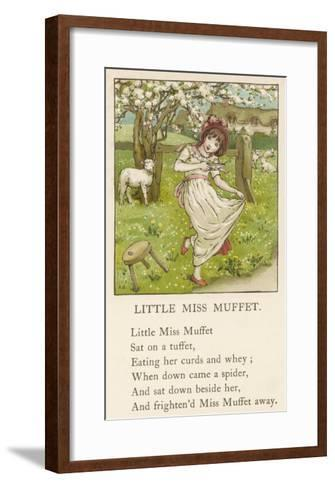 She Upsets Her Stool When She Finds a, Really Rather Small, Spider Sharing It with Her-Kate Greenaway-Framed Art Print