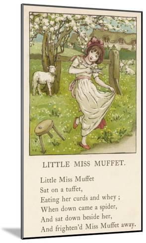 She Upsets Her Stool When She Finds a, Really Rather Small, Spider Sharing It with Her-Kate Greenaway-Mounted Giclee Print