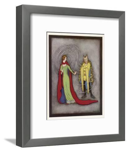 Beauty is Dismayed by the Beast's Horrific Appearance-Jennie Harbour-Framed Art Print