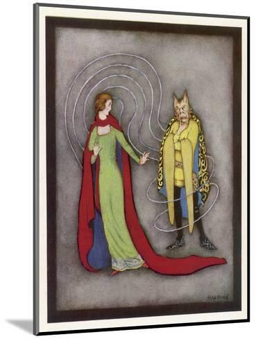 Beauty is Dismayed by the Beast's Horrific Appearance-Jennie Harbour-Mounted Giclee Print