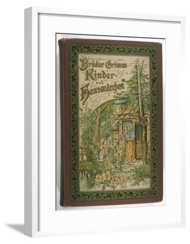 Hansel and Gretel are Invited into Her Cottage by the Evil Witch-V^p^ Mohn-Framed Art Print