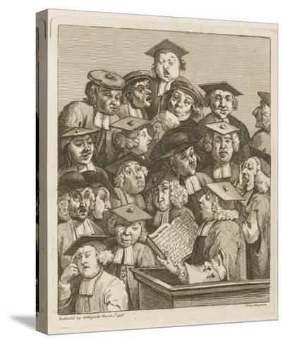 Scholars at a Lecture, Display Various Symptoms of Boredom-William Hogarth-Stretched Canvas Print