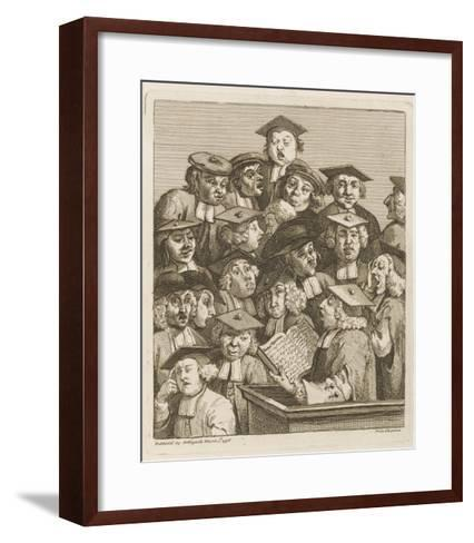 Scholars at a Lecture, Display Various Symptoms of Boredom-William Hogarth-Framed Art Print