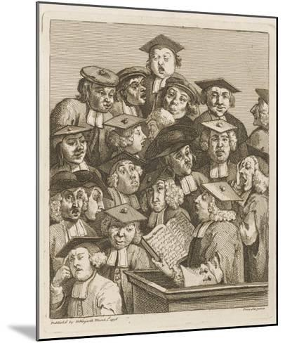 Scholars at a Lecture, Display Various Symptoms of Boredom-William Hogarth-Mounted Giclee Print