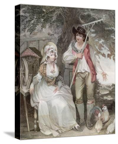 Relatively Prosperous Farming Couple-W. Nutter-Stretched Canvas Print