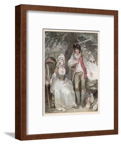 Relatively Prosperous Farming Couple-W. Nutter-Framed Art Print