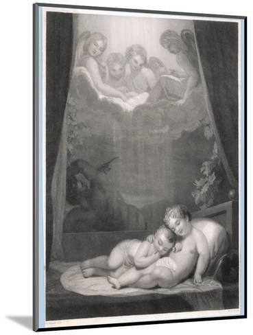 Guardian Angels Watch Over Two Babies Thwarting the Evil One-W.h. Mote-Mounted Giclee Print