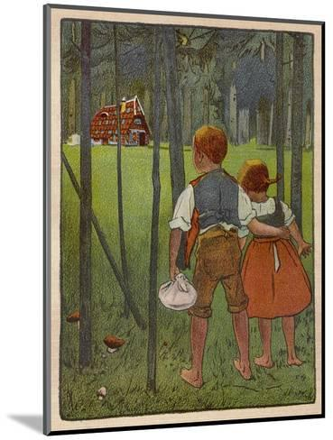 Hansel and Gretel See a Pretty Cottage in the Distance and Think They Might Shelter There-Willy Planck-Mounted Giclee Print