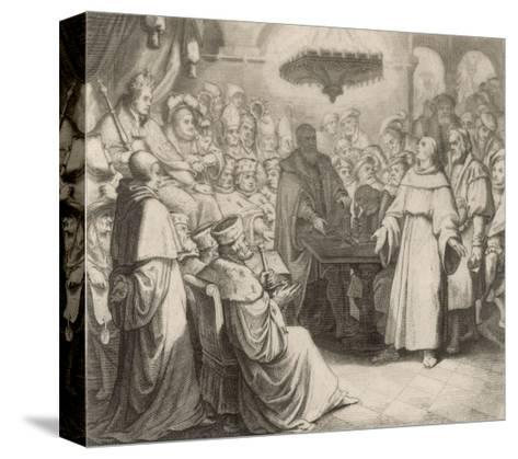 Martin Luther Defends His Views at the Diet of Worms Before the (Catholic) Emperor Karl V-Gustav Konig-Stretched Canvas Print