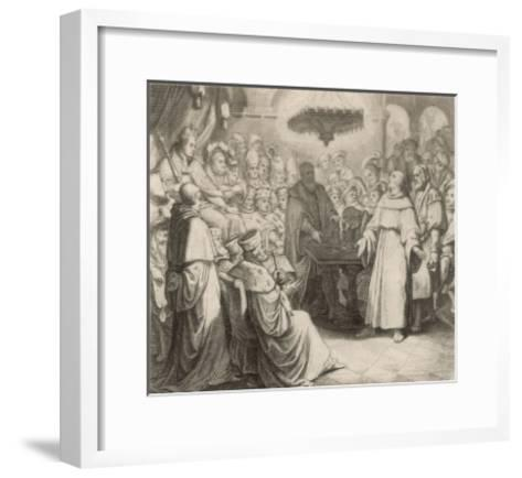 Martin Luther Defends His Views at the Diet of Worms Before the (Catholic) Emperor Karl V-Gustav Konig-Framed Art Print