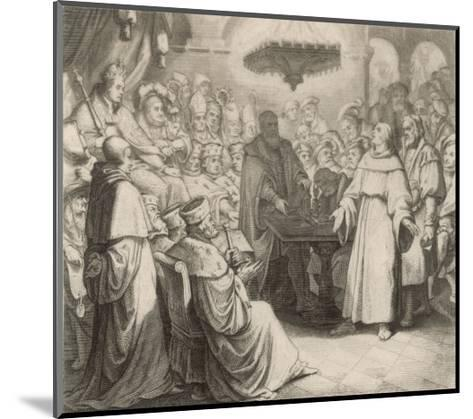 Martin Luther Defends His Views at the Diet of Worms Before the (Catholic) Emperor Karl V-Gustav Konig-Mounted Giclee Print