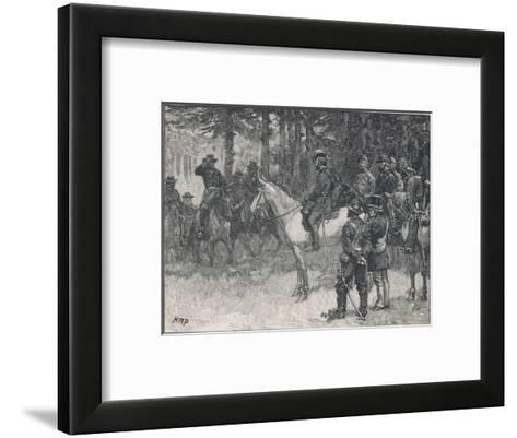 The Meeting of Lee and Grant at Appomattox Court-House Ending the War Between the States-H.m. Paget-Framed Art Print