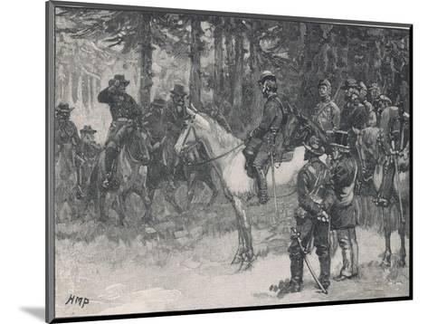 The Meeting of Lee and Grant at Appomattox Court-House Ending the War Between the States-H.m. Paget-Mounted Giclee Print