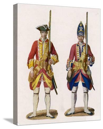 Two British Infantrymen--Stretched Canvas Print